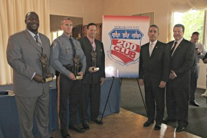 Three R. Peter Hodge Valor Award honorees, keynoter U.S. Marshal Juan Mattos, Jr. and 200 Club President Greg Blair